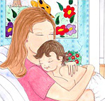 Illustration: Mother comforting baby